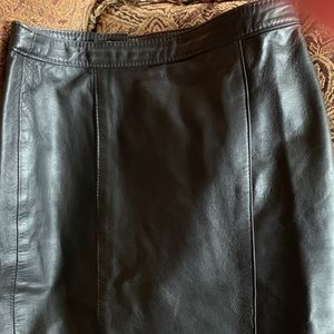 All leather pencil skirt